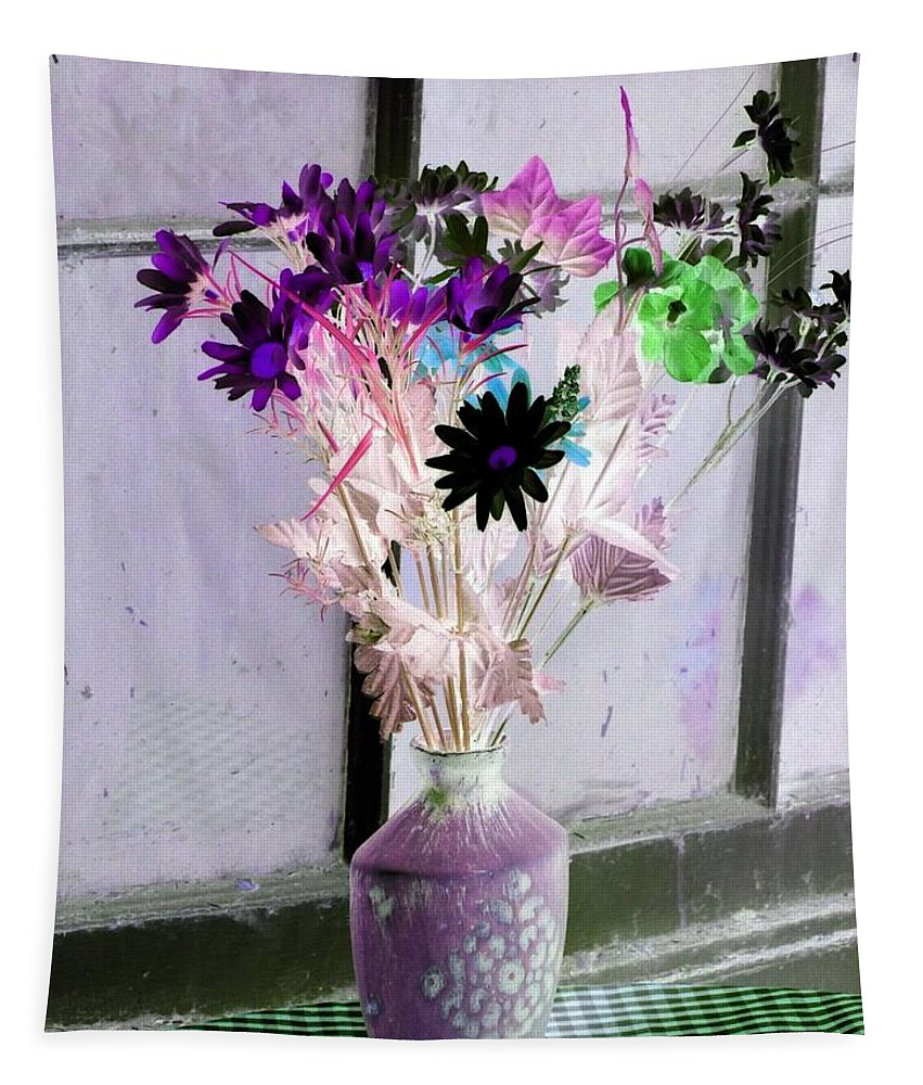 Flower Tapestry featuring the photograph Country Comfort - Photopower 476 by Pamela Critchlow