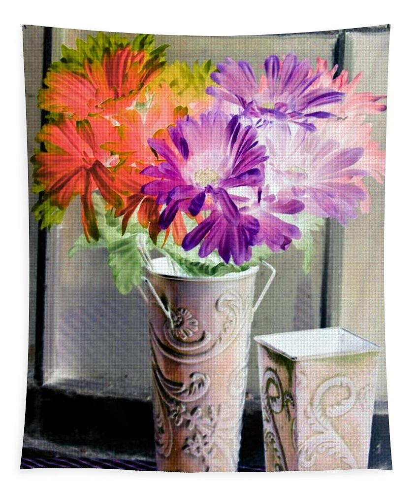 Flower Tapestry featuring the photograph Country Comfort - Photopower 493 by Pamela Critchlow