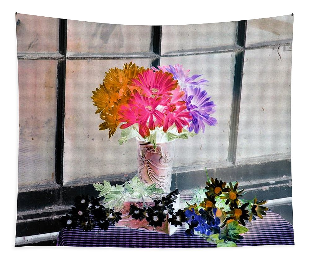 Flower Tapestry featuring the photograph Country Comfort - Photopower 500 by Pamela Critchlow