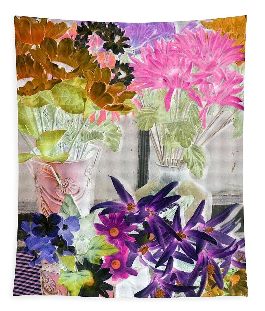Flower Tapestry featuring the photograph Country Comfort - Photopower 515 by Pamela Critchlow