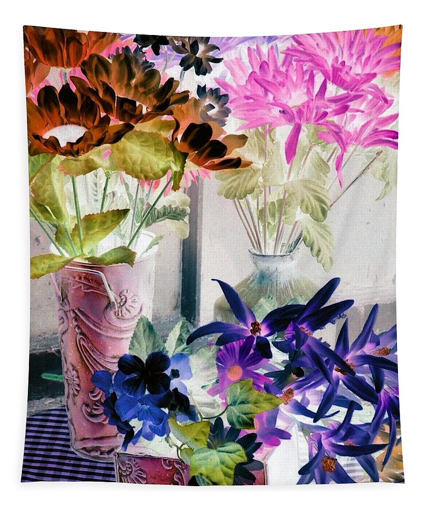 Flower Tapestry featuring the photograph Country Comfort - Photopower 517 by Pamela Critchlow