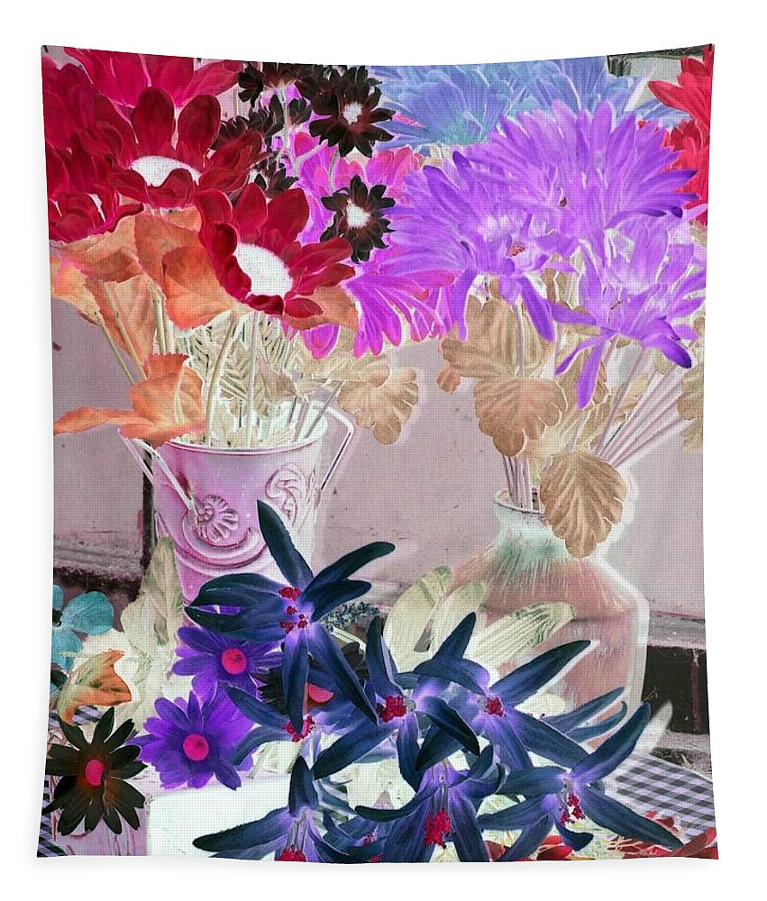 Flower Tapestry featuring the photograph Country Comfort - Photopower 519 by Pamela Critchlow