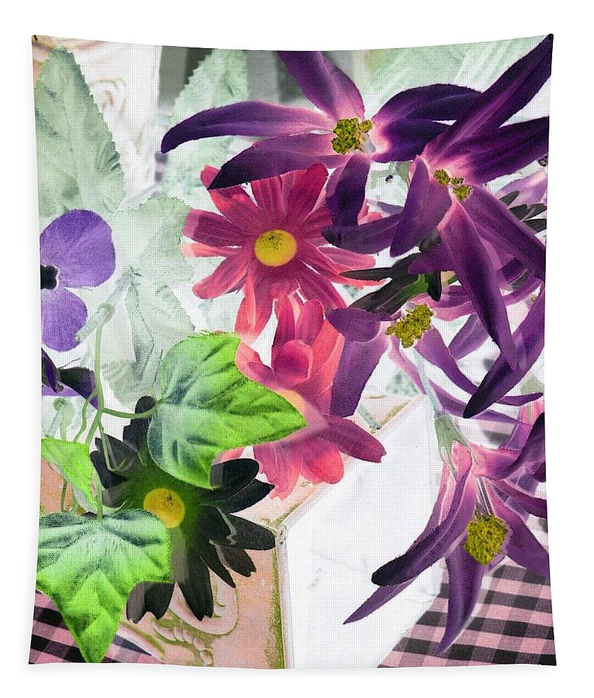 Flower Tapestry featuring the photograph Country Comfort - Photopower 521 by Pamela Critchlow