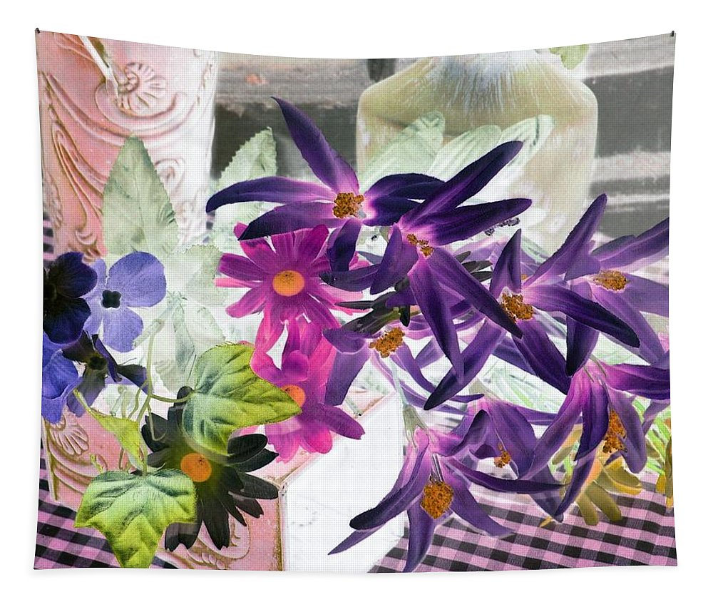 Flower Tapestry featuring the photograph Country Comfort - Photopower 522 by Pamela Critchlow