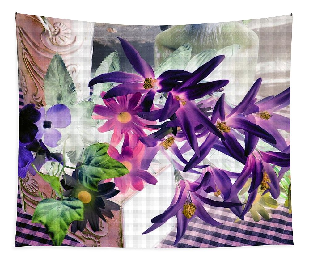 Flower Tapestry featuring the photograph Country Comfort - Photopower 523 by Pamela Critchlow