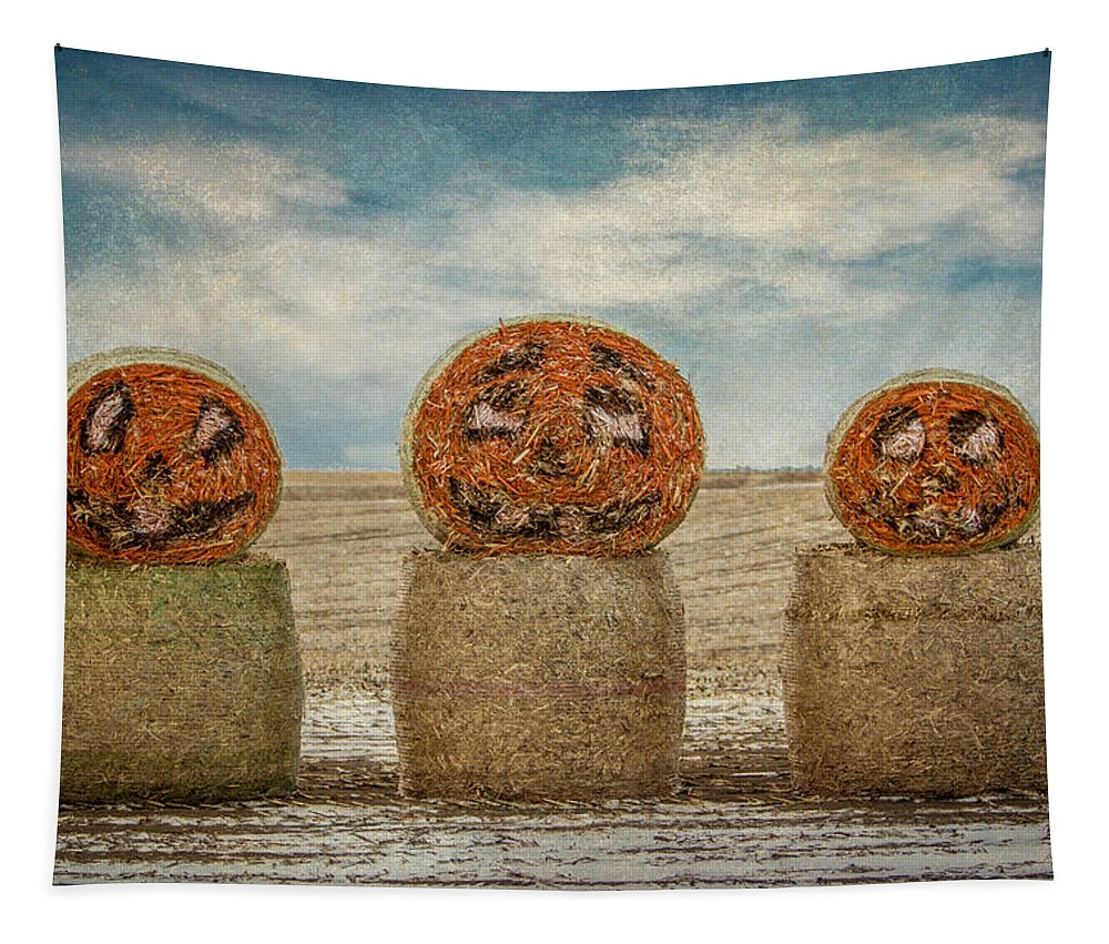 Halloween Tapestry featuring the photograph Country Halloween by Patti Deters