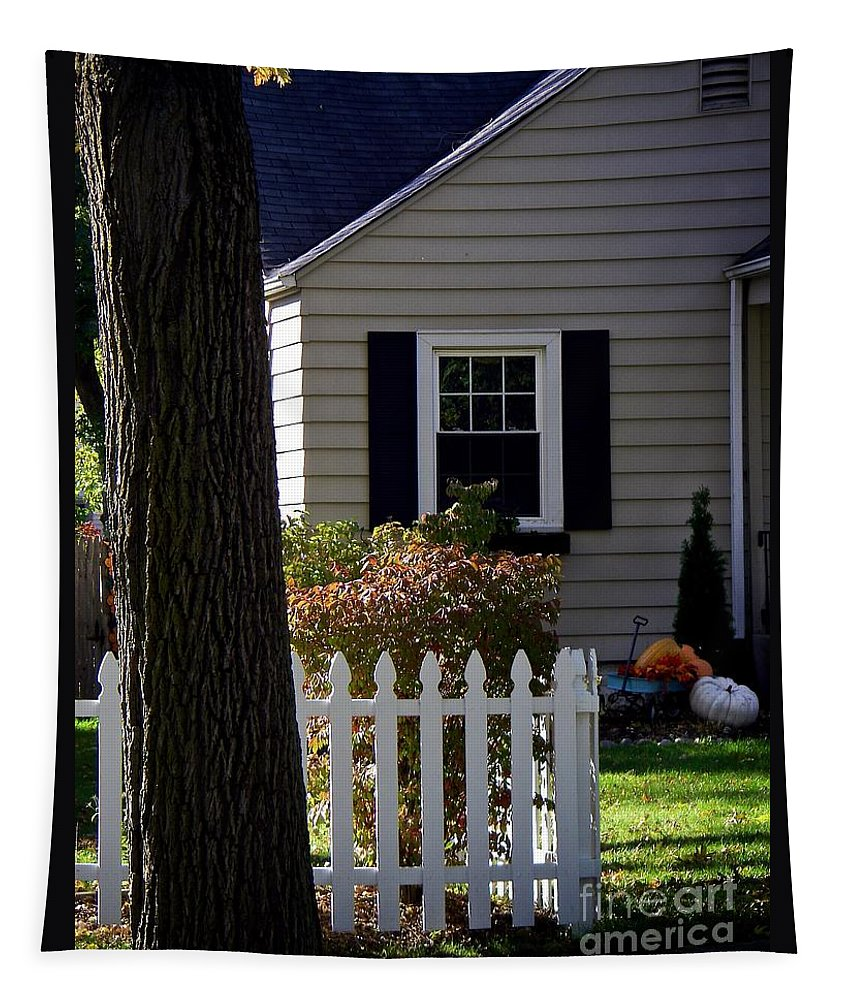 Pumpkin Tapestry featuring the photograph Country Home by Frank J Casella
