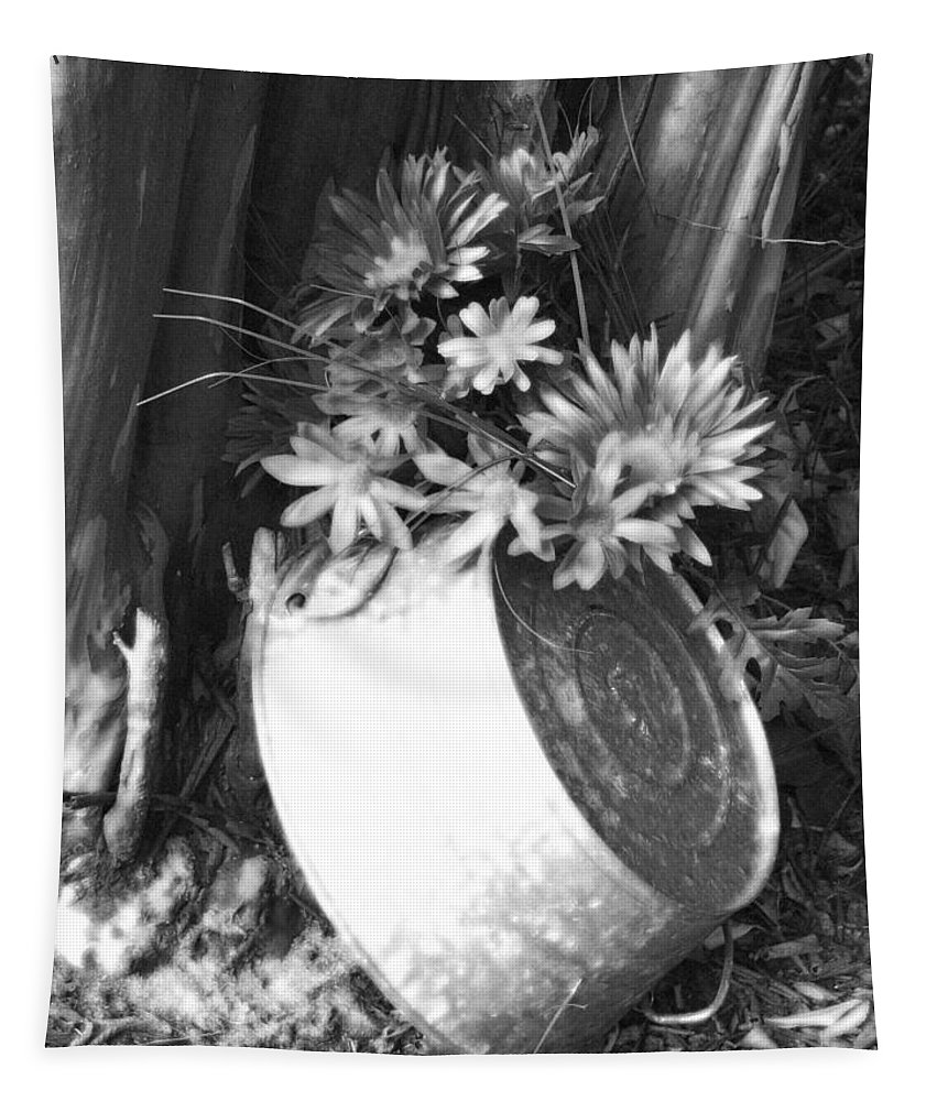Flower Tapestry featuring the photograph Country Summer - Bw 02 by Pamela Critchlow