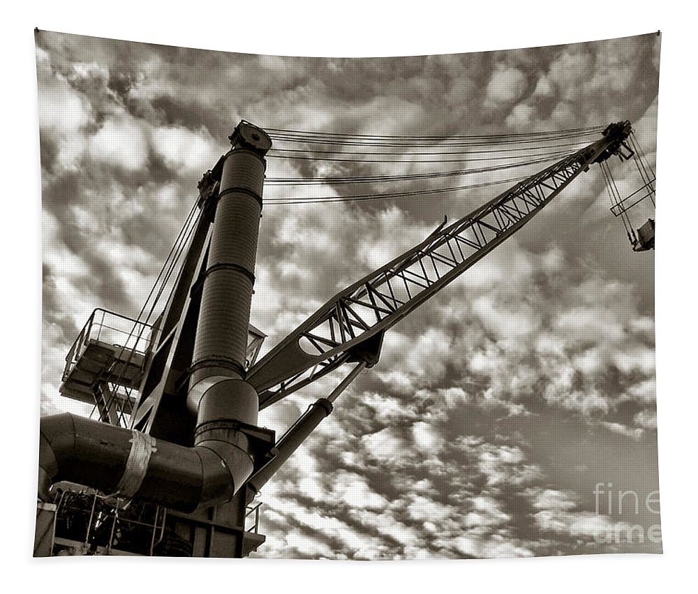 Crane Tapestry featuring the photograph Crane by Olivier Le Queinec