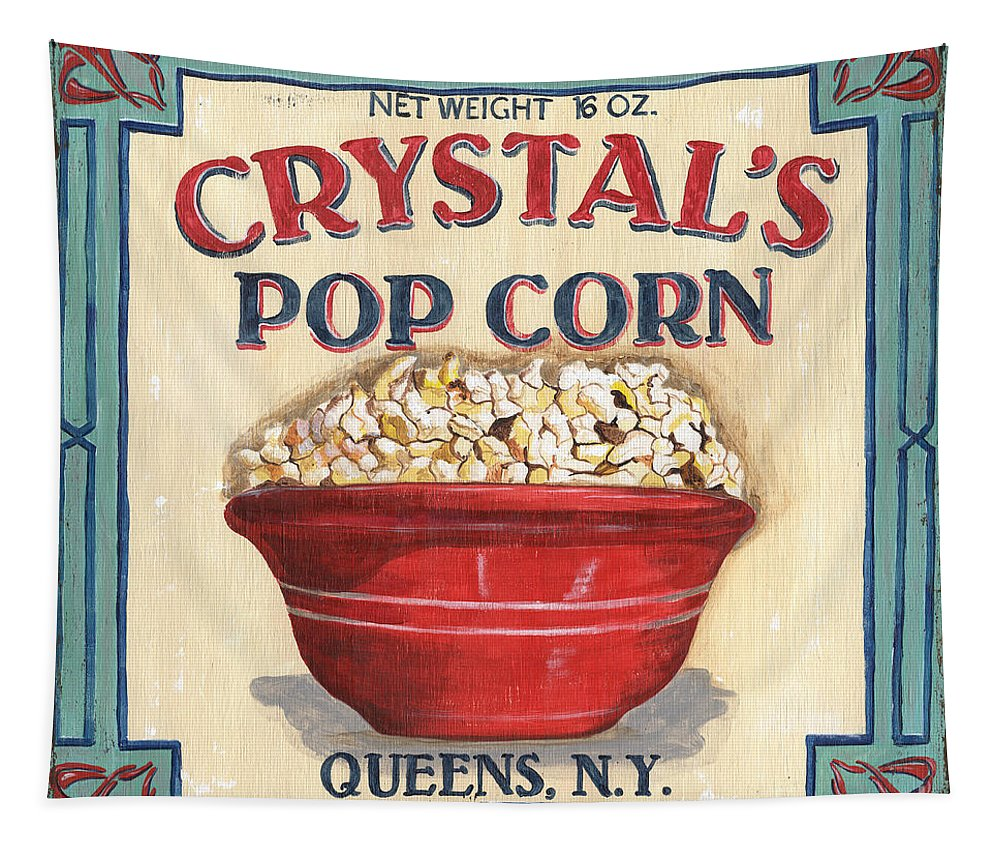 Popcorn Tapestry featuring the painting Crystal's Popcorn by Debbie DeWitt