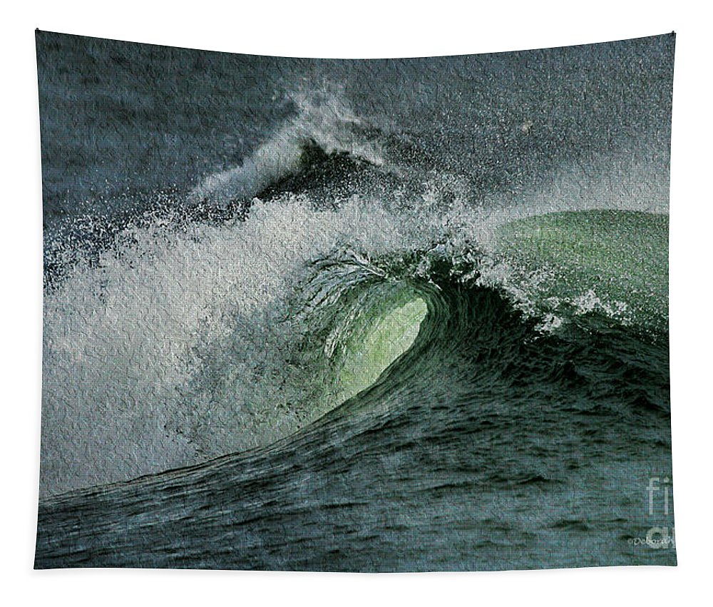 Wave Tapestry featuring the photograph Curl Of The Wave by Deborah Benoit