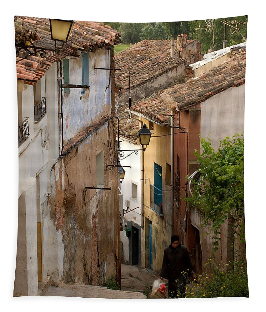 Curruca Tapestry featuring the photograph Currruca Slope In Calahorra by RicardMN Photography