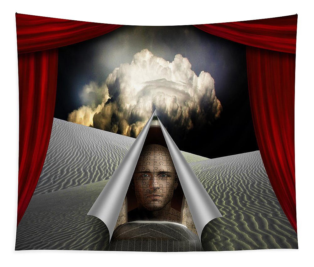 Desert Tapestry featuring the digital art Curtain by Bruce Rolff