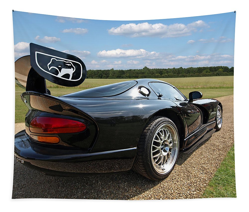 Dodge Viper Tapestry featuring the photograph Curvalicious Viper by Gill Billington