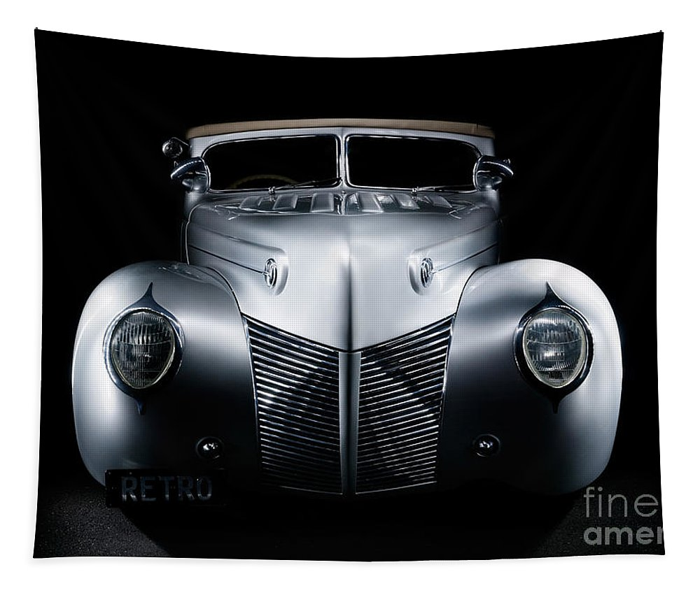 Silver Tapestry featuring the photograph Custom Ford Coupe by Frank Kletschkus