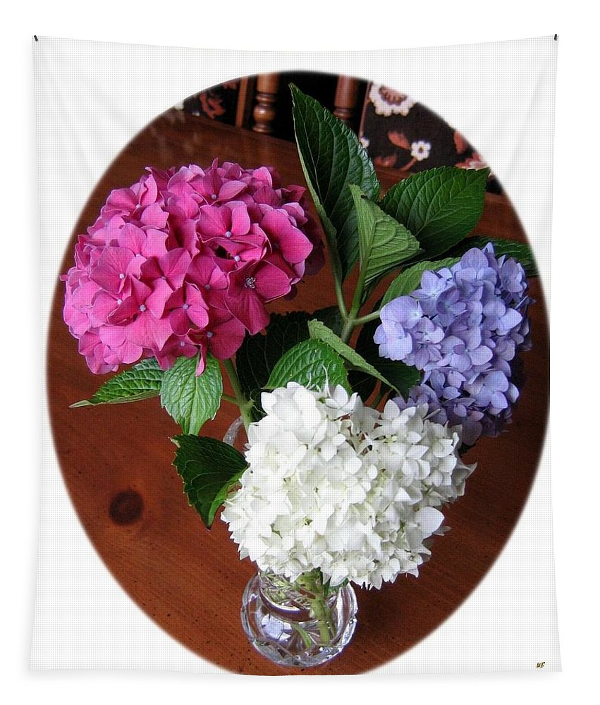 Cut Hydrangeas Tapestry featuring the photograph Cut Hydrangeas by Will Borden