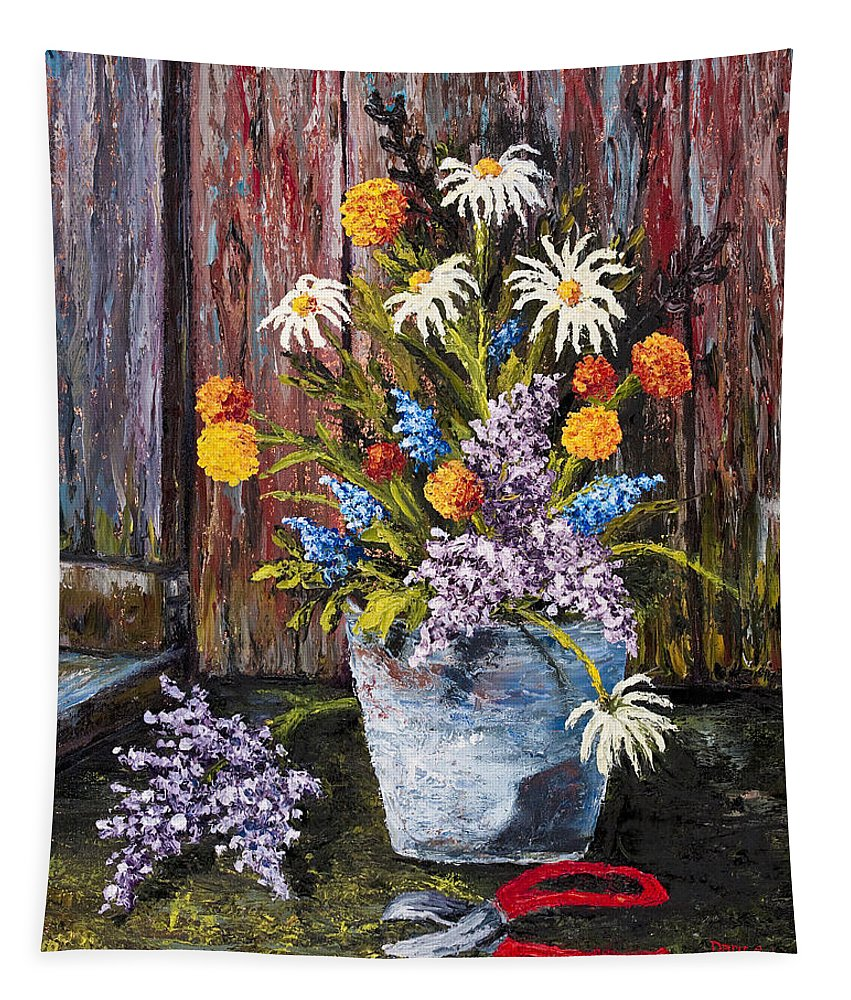 Impressionism Tapestry featuring the painting Cuttings From My Garden by Darice Machel McGuire