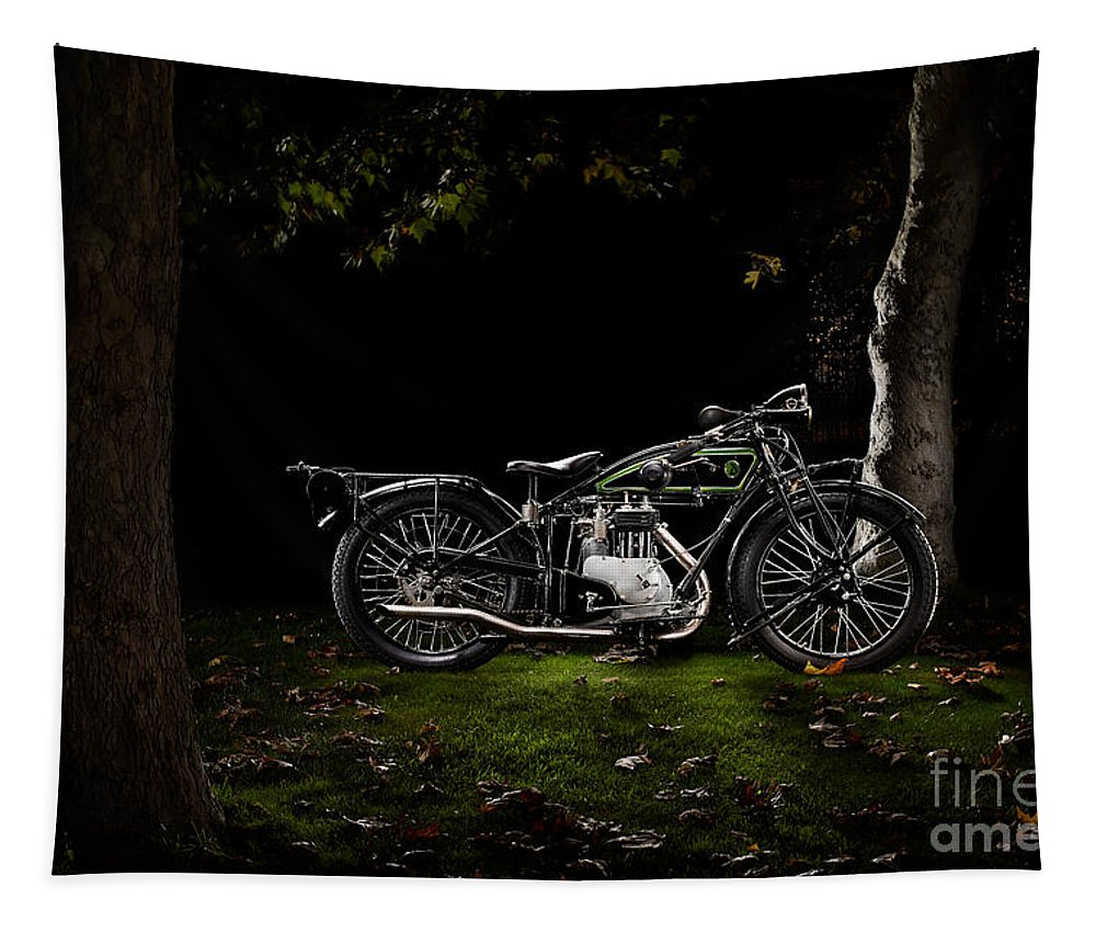 Bike Tapestry featuring the photograph D-rad R04 In A Forest by Frank Kletschkus