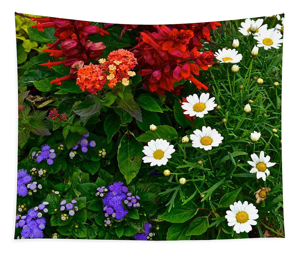 Daisy Tapestry featuring the photograph Daisy Field by Frozen in Time Fine Art Photography