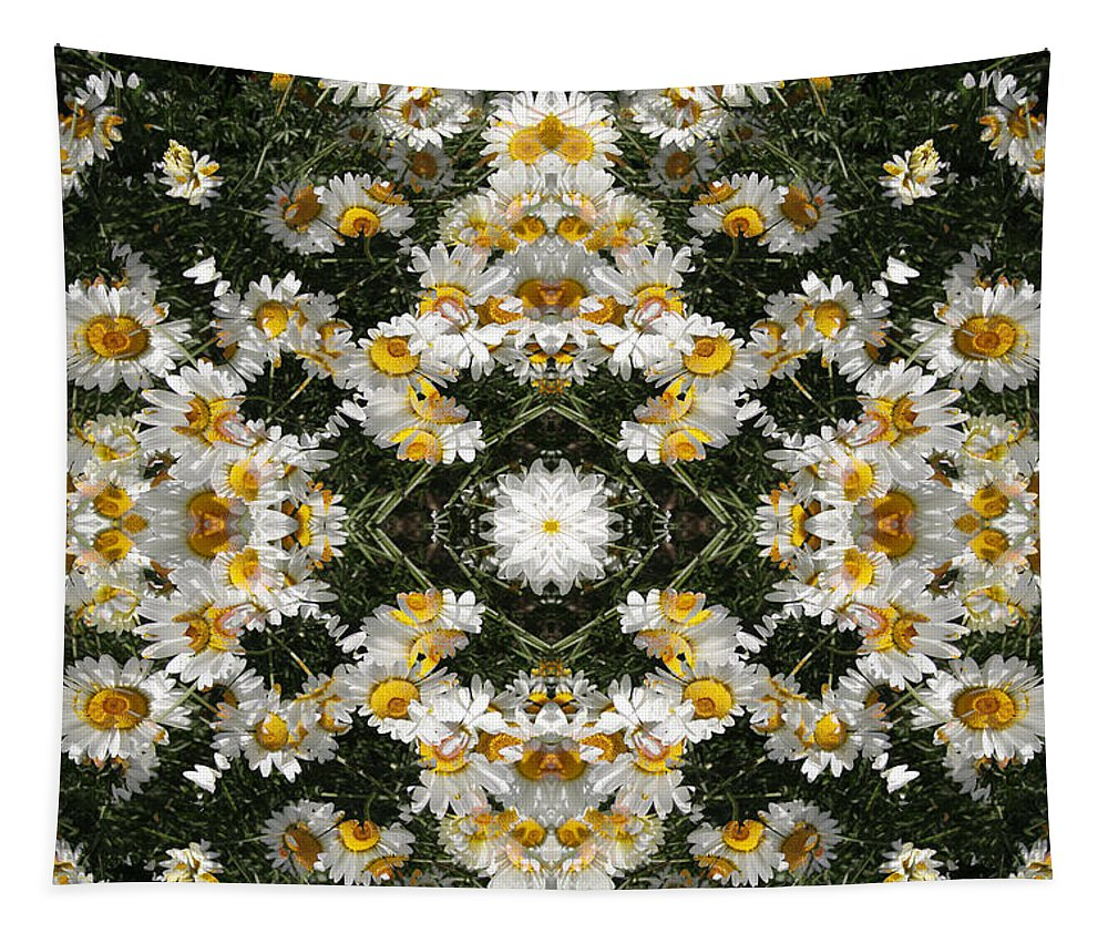 Reflected Tapestry featuring the digital art Daisy Kaleido 1 by Steve Ball
