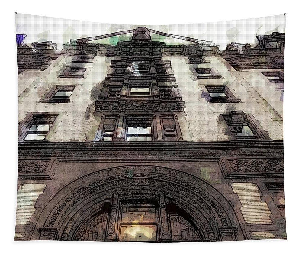 Dakota Building New York Lenon John Tapestry featuring the photograph Dakota In Brown by Alice Gipson