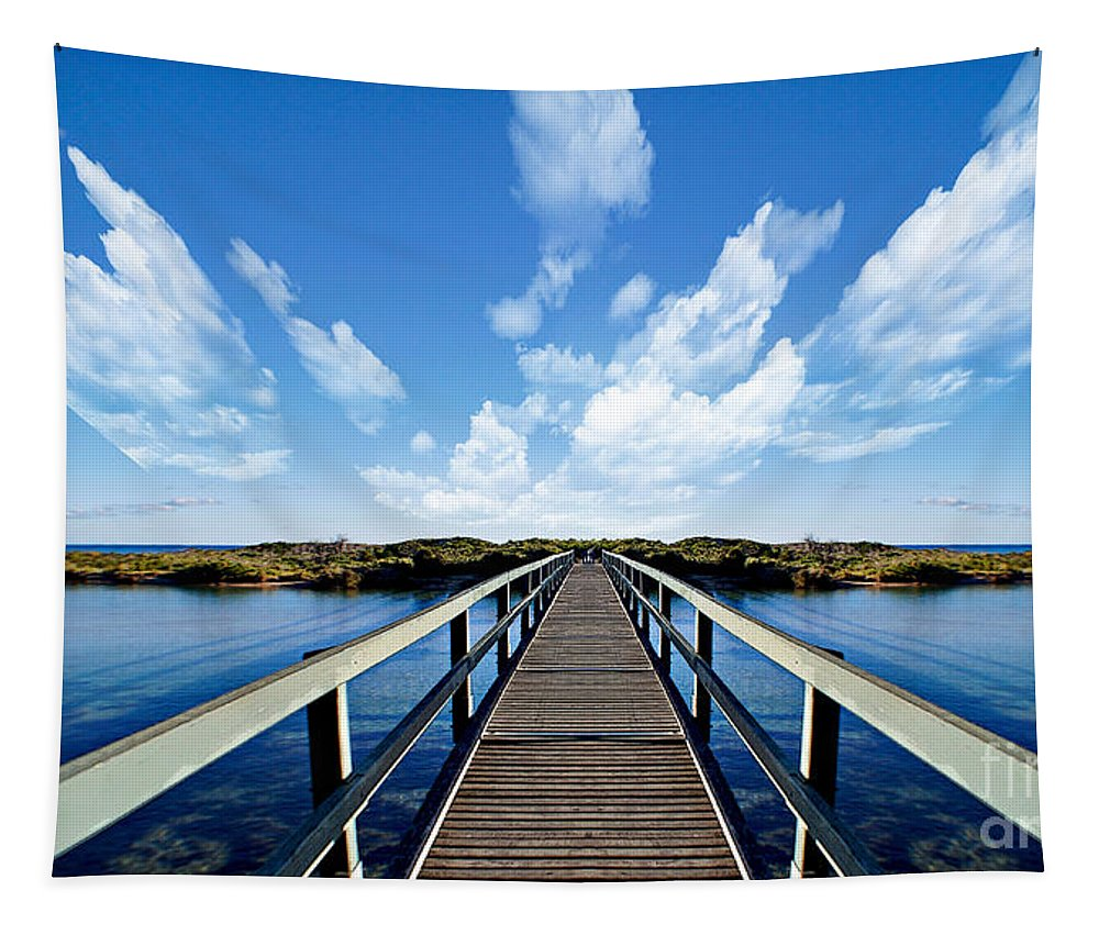 Bridge Tapestry featuring the photograph Dalmaney Bridge by Ben Yassa