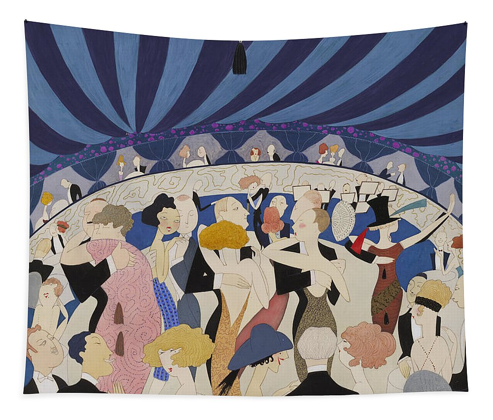 Anne Harriet Fish Tapestry featuring the digital art Dancing Couples by Georgia Fowler