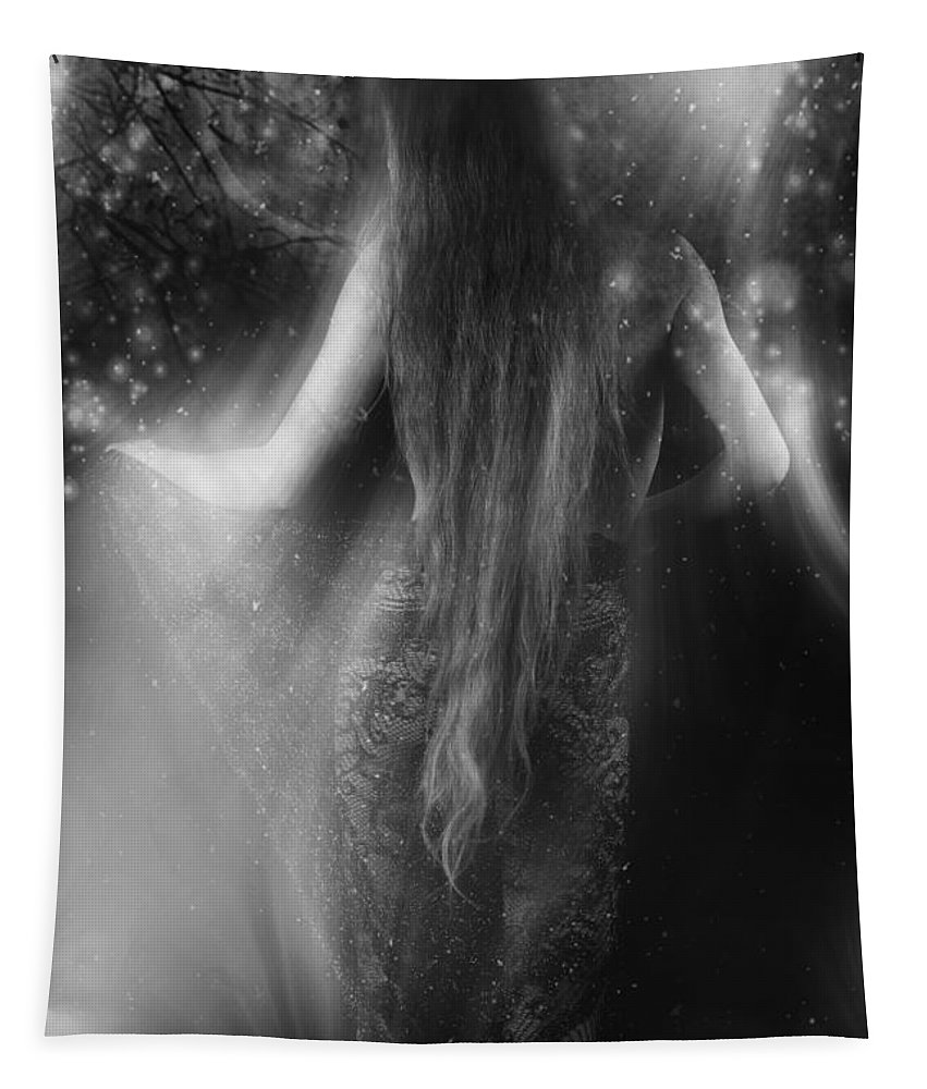 Festblues Tapestry featuring the photograph Dancing In The Moonlight... by Nina Stavlund