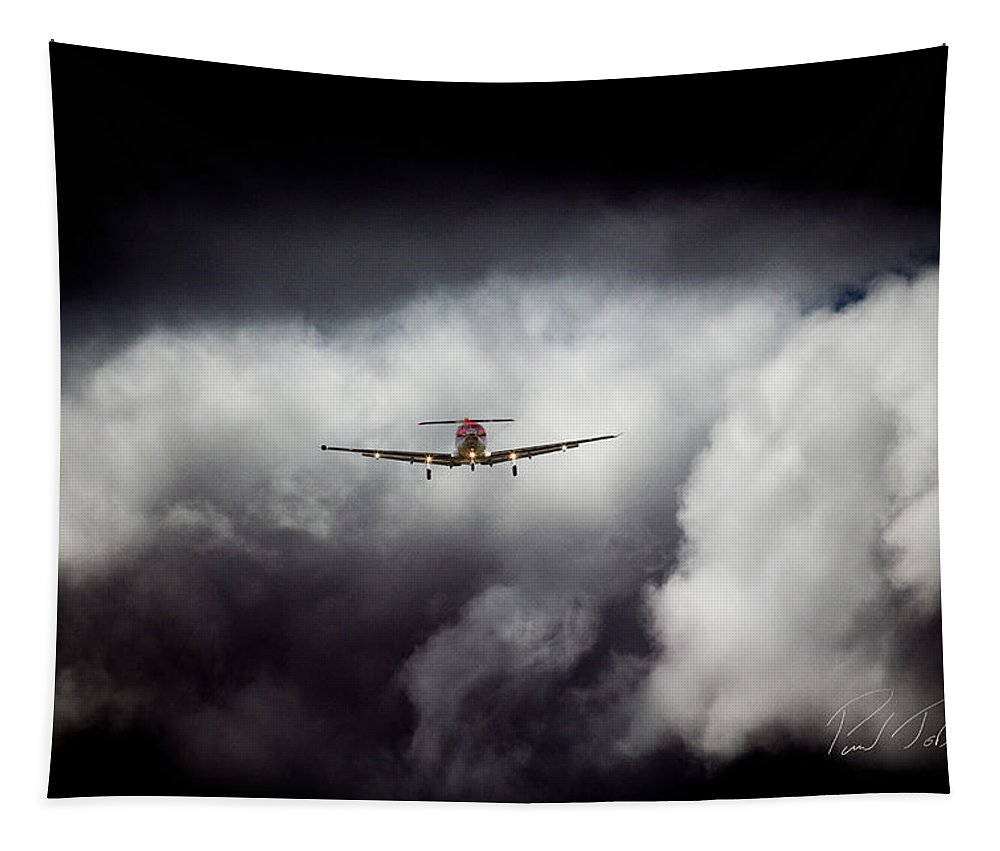 Pilatus Pc 12 Golden Eagle Tapestry featuring the photograph Dark 12 by Paul Job