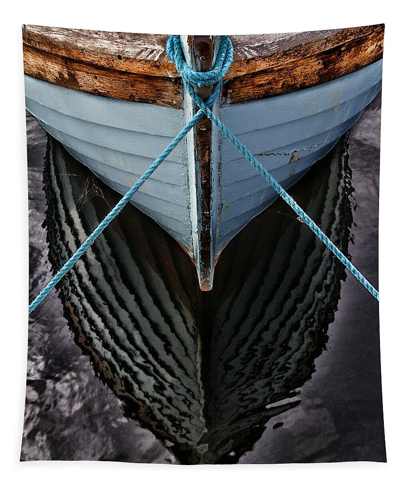 Bay Tapestry featuring the photograph Dark Waters by Stelios Kleanthous