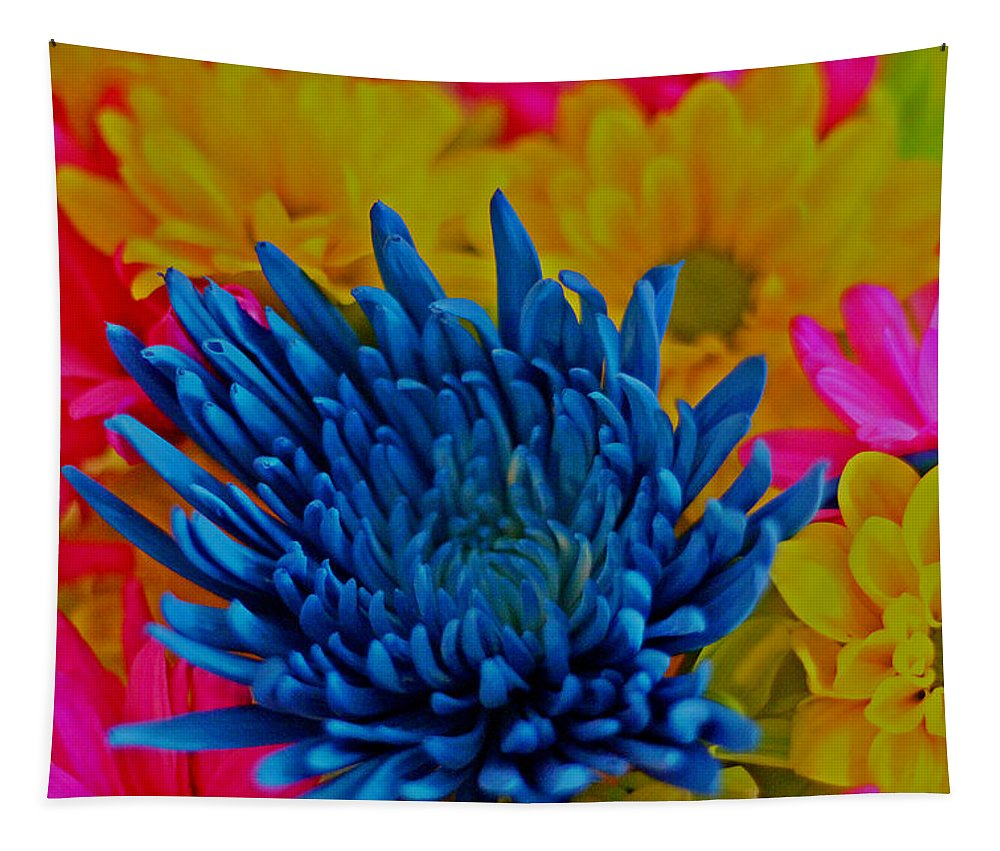 Beautiful Flowers Photograph Tapestry featuring the photograph Dash Of Blue by Dan Sproul