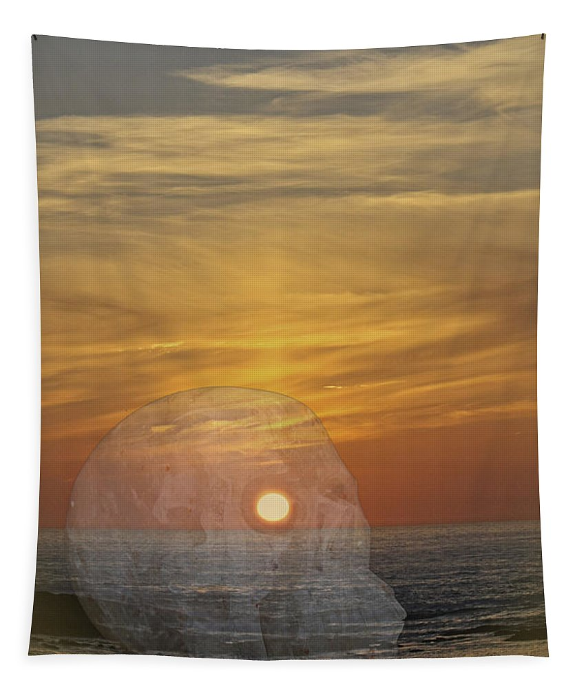 Sunset Tapestry featuring the photograph Death Of A Day by Terri Waters