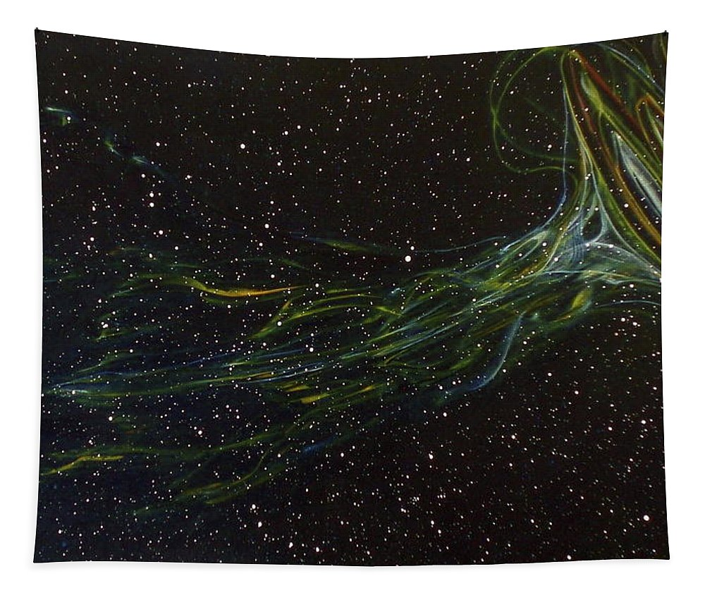 Abstract Tapestry featuring the painting Death Throes by Sean Connolly