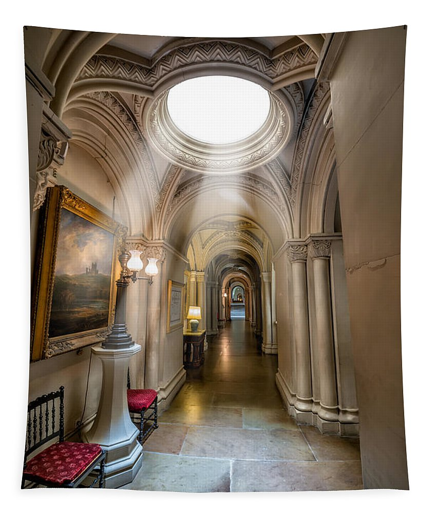 British Tapestry featuring the photograph Decorative Hall by Adrian Evans