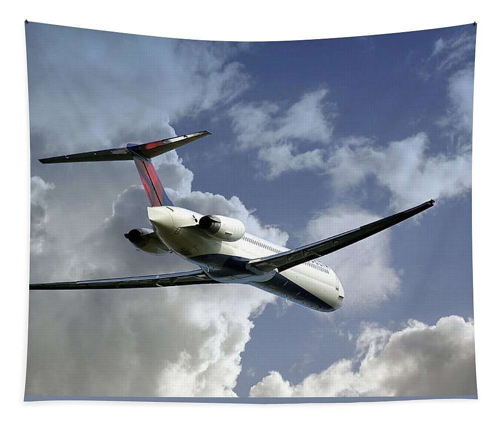 2d Tapestry featuring the photograph Delta Jet by Brian Wallace