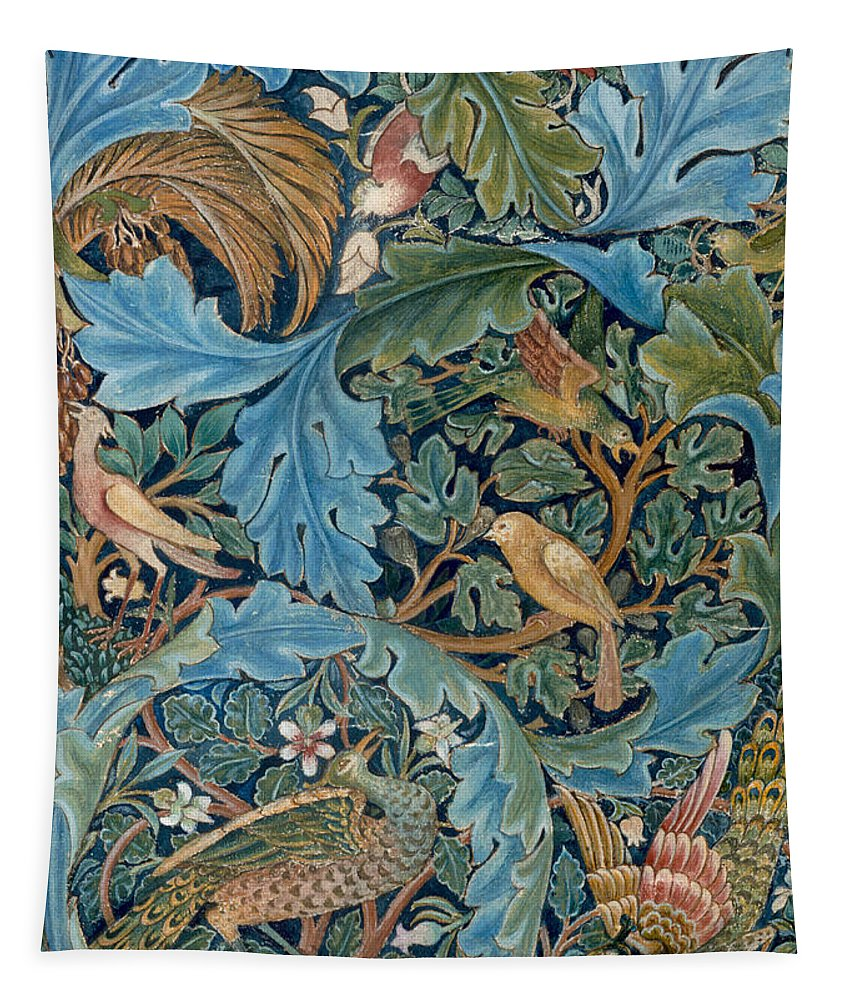 William Morris Tapestry featuring the painting Design For Tapestry by William Morris