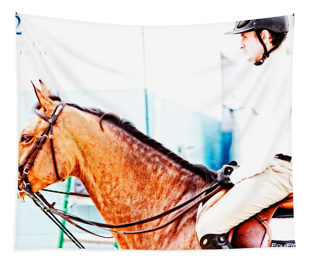 Horse Tapestry featuring the photograph Devon Waiting by Alice Gipson