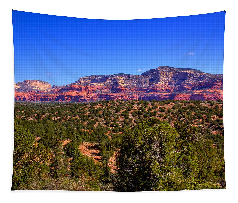 Sedona Tapestry featuring the photograph Diamondback Gulch Near Sedona Arizona by David Patterson