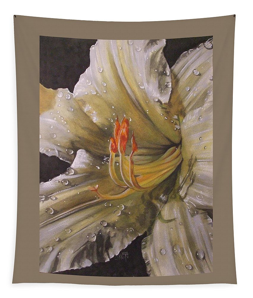 Daylily Tapestry featuring the painting Diamonds by Barbara Keith