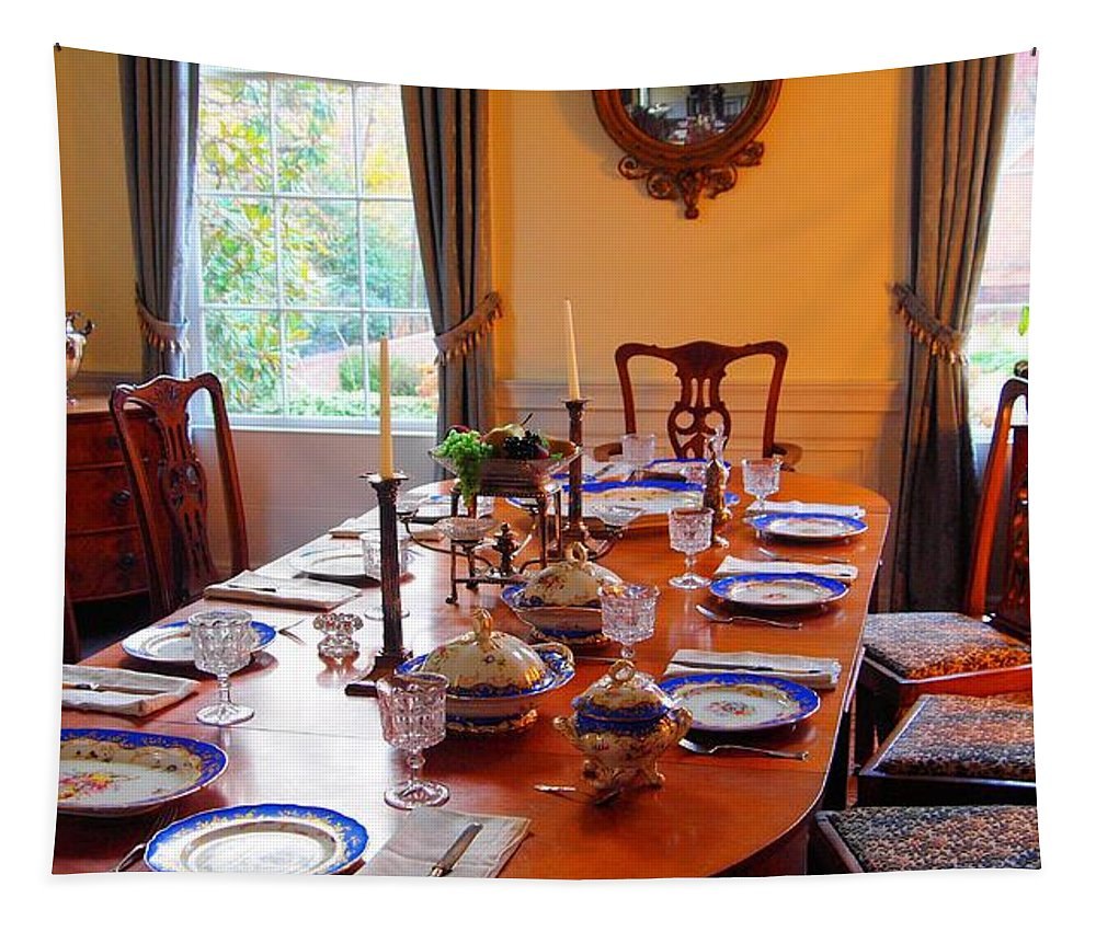 Dinner Table Tapestry featuring the photograph Dinner Table by Dan Sproul