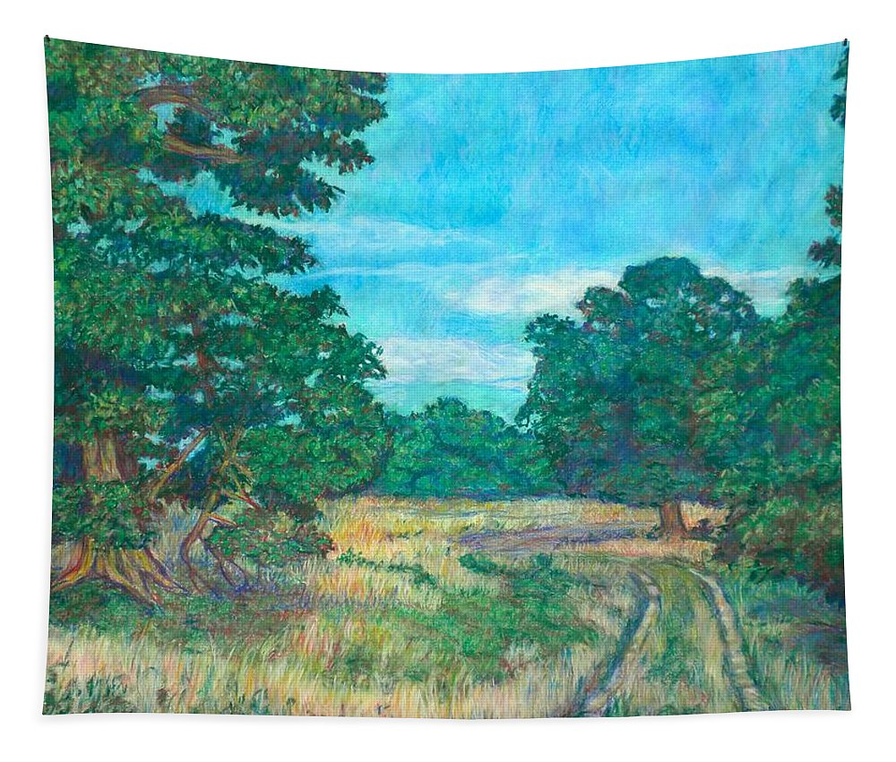 Landscape Tapestry featuring the painting Dirt Road Near Rock Castle Gorge by Kendall Kessler