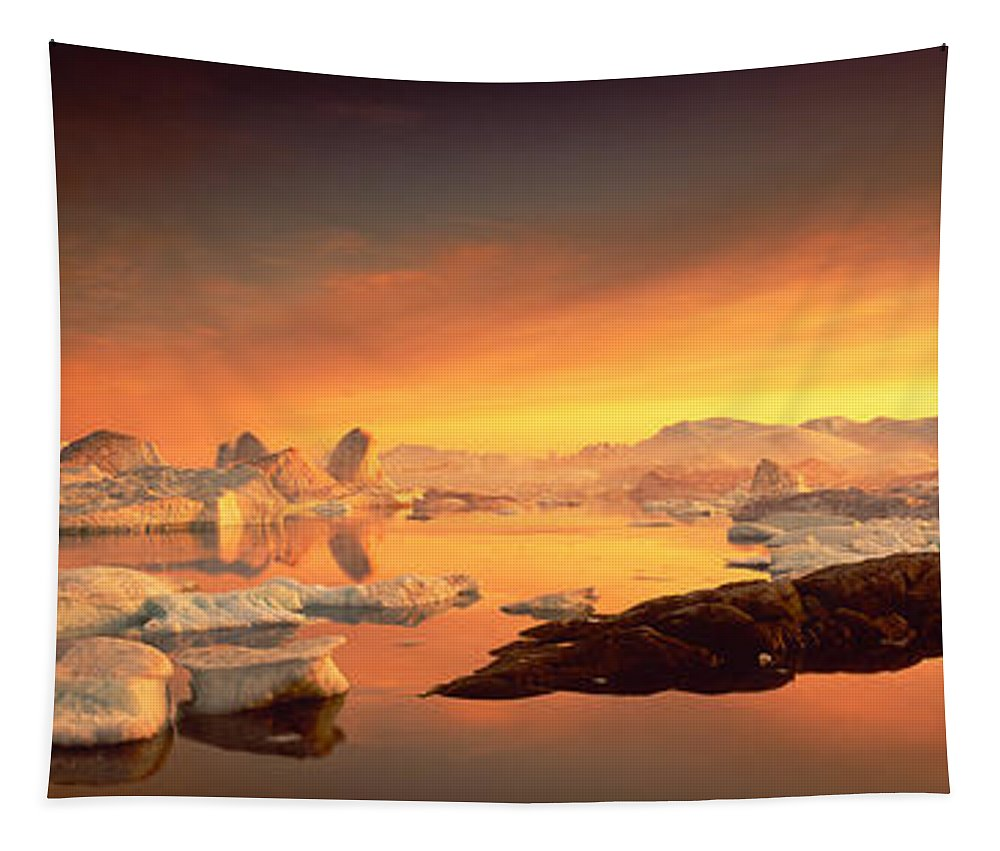 Photography Tapestry featuring the photograph Disko Bay, Greenland by Panoramic Images