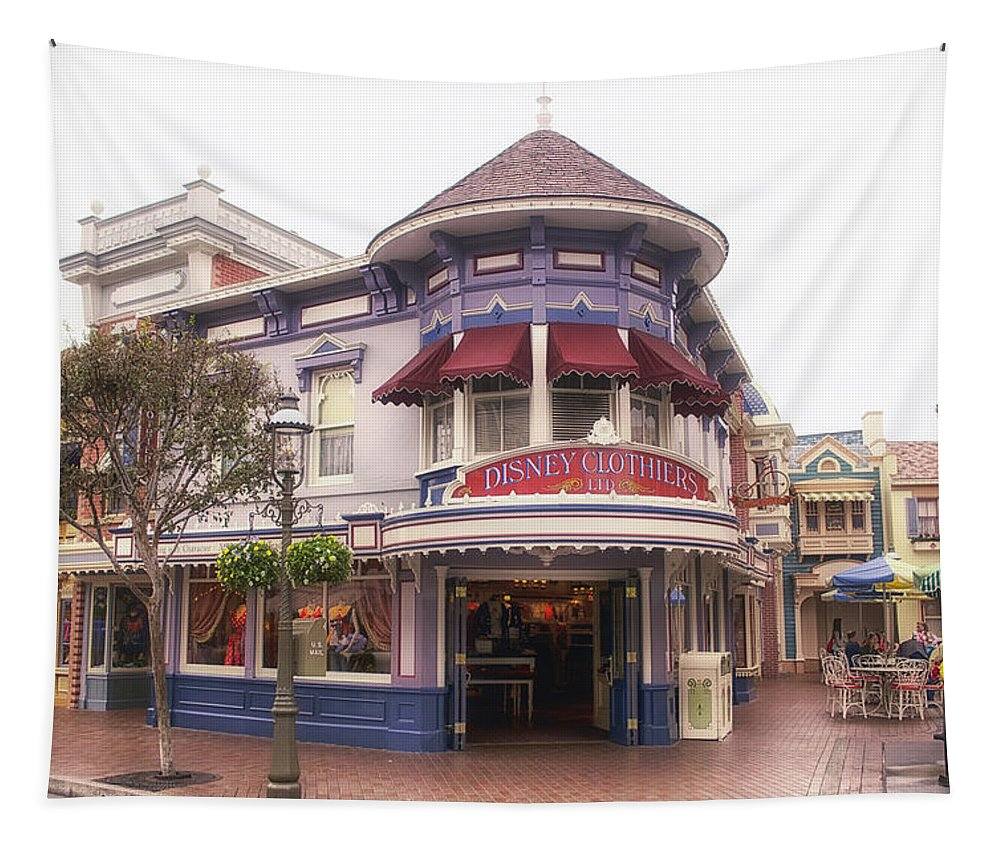 Disney Tapestry featuring the photograph Disney Clothiers Main Street Disneyland 02 by Thomas Woolworth