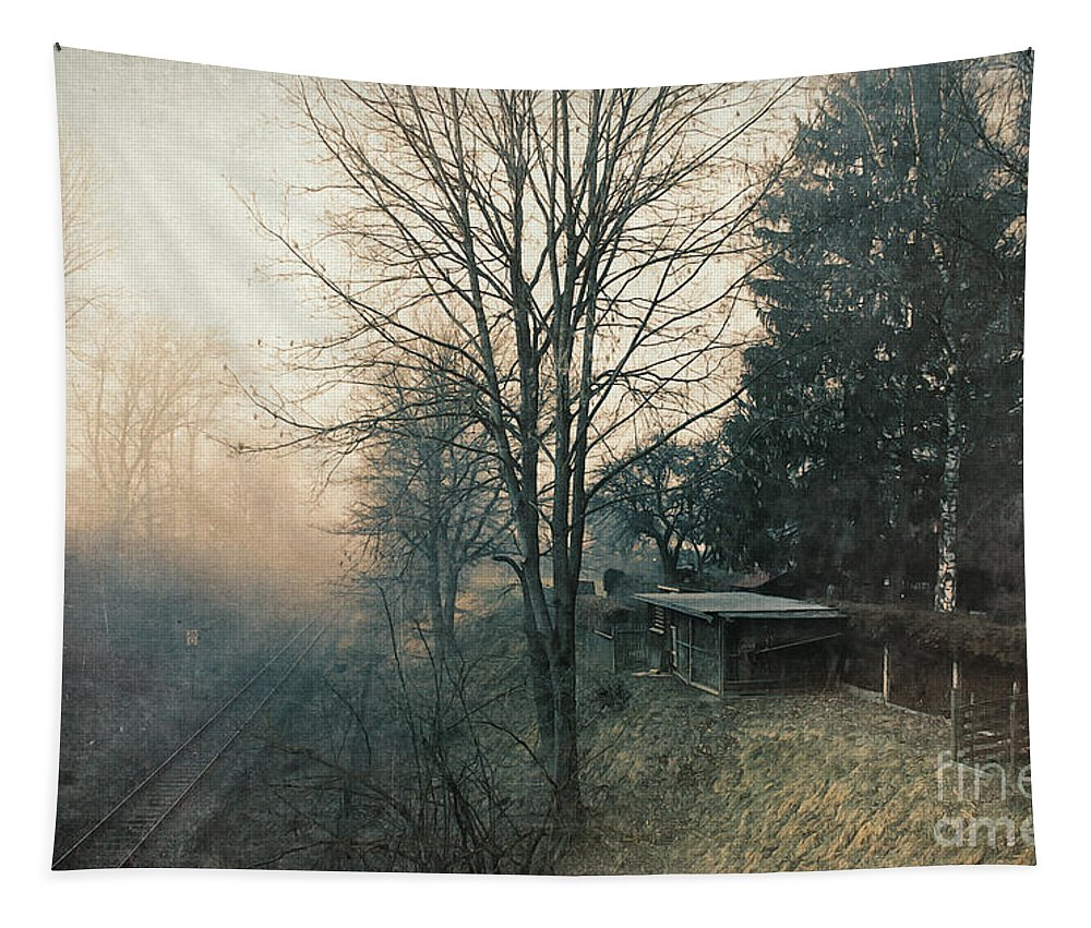Photo Tapestry featuring the photograph Distant Light by Jutta Maria Pusl