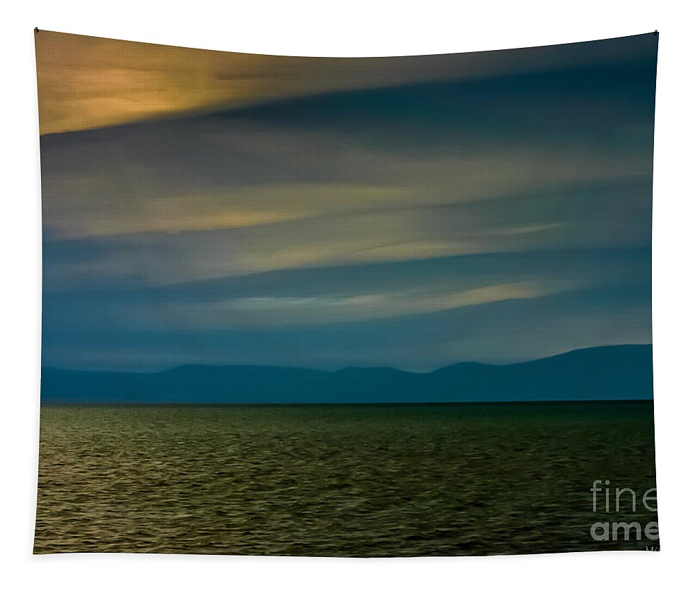 Divided Sky Tapestry featuring the photograph Divided Sky by Mitch Shindelbower