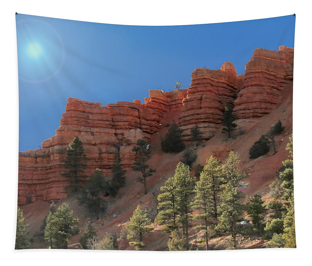 Cliffs Tapestry featuring the photograph Dixie National Forest Utah by Patti Deters