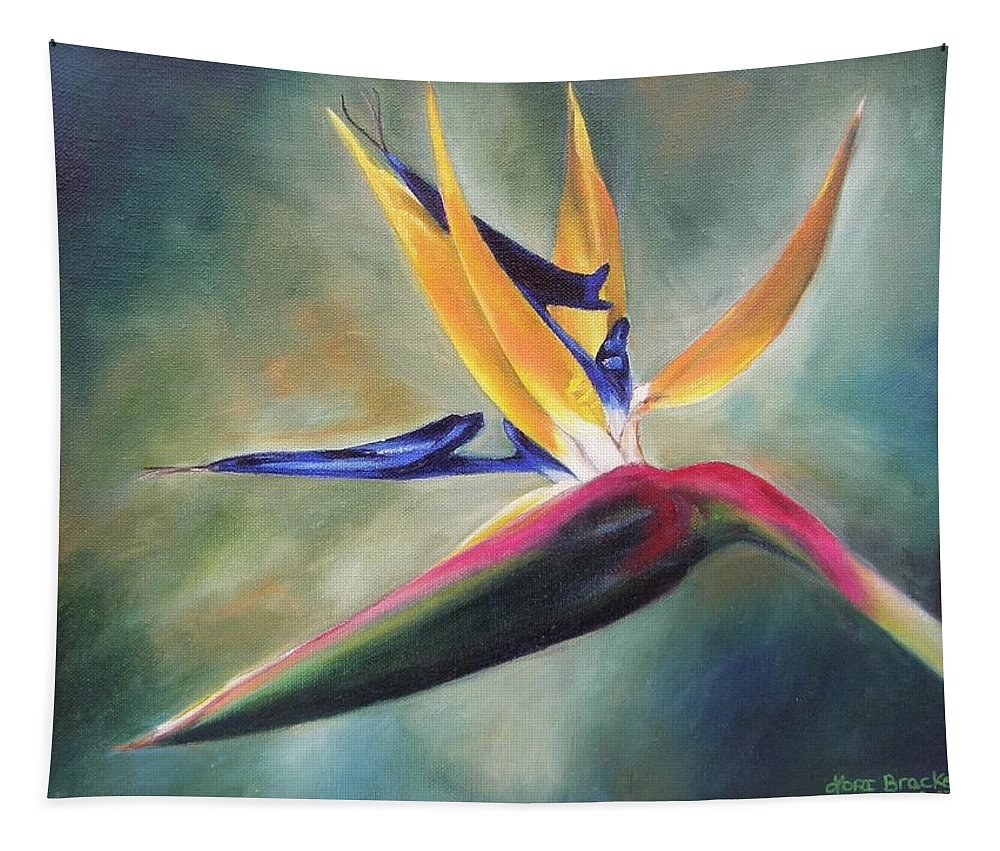 Realism Tapestry featuring the painting Dj's Flower by Lori Brackett