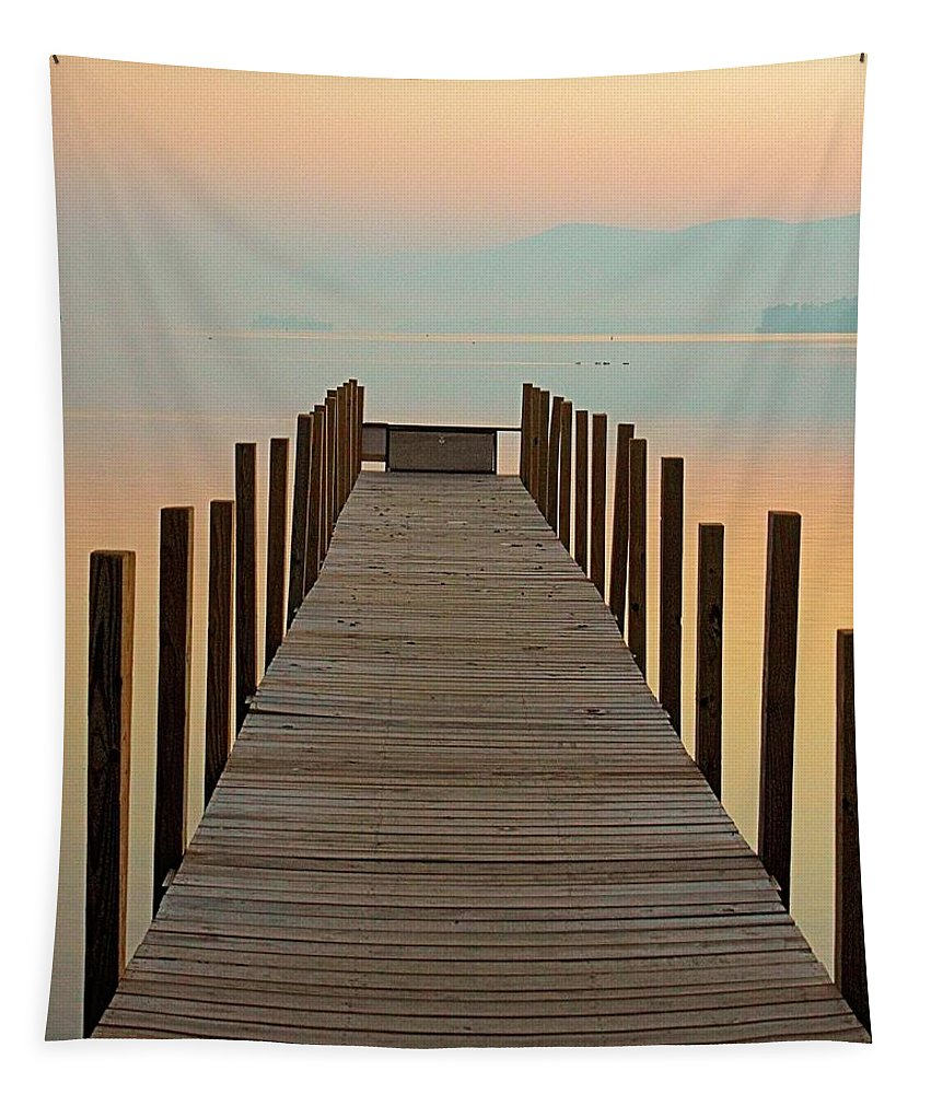 Dock Tapestry featuring the photograph Dock Of The Bay by Robert McCulloch
