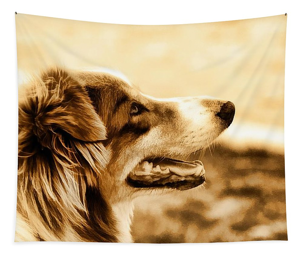 Dog Tapestry featuring the photograph Doggie Face by Alice Gipson
