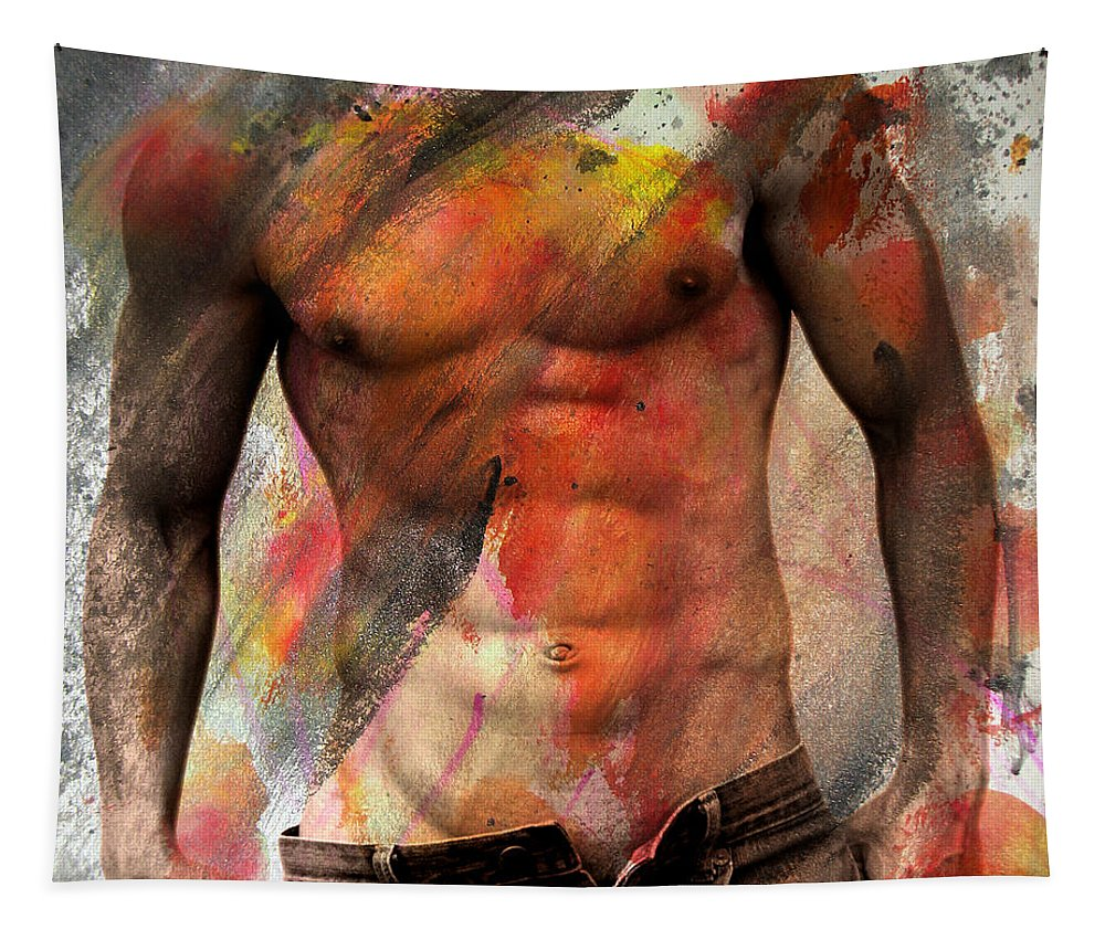 Male Nude Tapestry featuring the photograph Don't Explain by Mark Ashkenazi